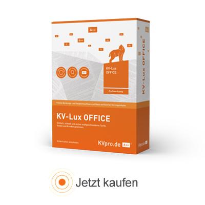 KV-Lux OFFICE für Vermittler, Vertriebe und Pools kaufen