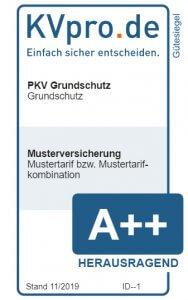 KVpro Muster-Gütesiegel für PKV Grundschutz